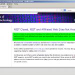 Strona NIST nie działa