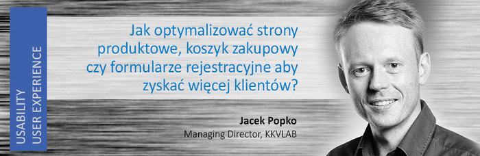 Jacek Popko z Usability LAB wystąpi w czasie Conversion Workshop Days