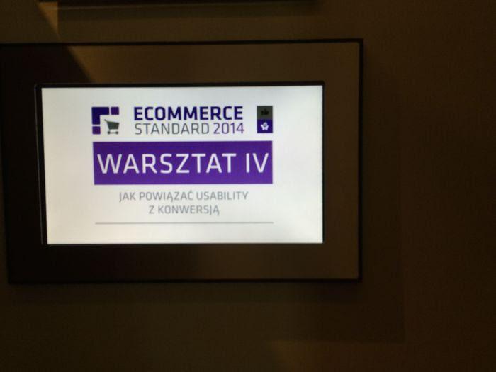 Ecommerce Standard 2014 - warsztaty o związkach usability  zkonwersją