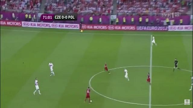 3. Klatka z meczu Polska – Czechy z Euro 2012
